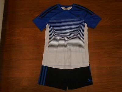 adidas black & blue athletic shorts with FREE matching shirt outfit size 6