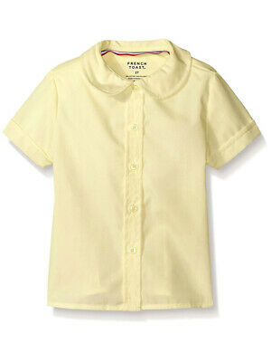French Toast Big Girls' S/S Peter Pan Fitted Shirt (Sizes 7 - 20)