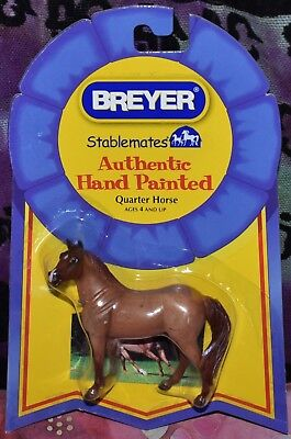 2009 Breyer Stablemates Authentic Hand Painted RED ROAN QUARTER HORSENEW NIP