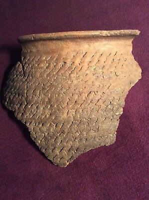 Large Mesa Verde Anasazi Corrugated Piece From A Broken Rimmed Pot