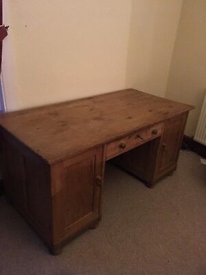 Beautiful Large Antique Desk Old Pine