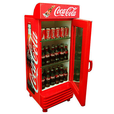 Coca cola Coke Cooler Miniature Doll House Can Bottle Tiny Refrigerator Drinks