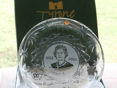 Tyrone Crystal Golden Jubilee Plate Limited Edition 75/200 BOXED EX Cond