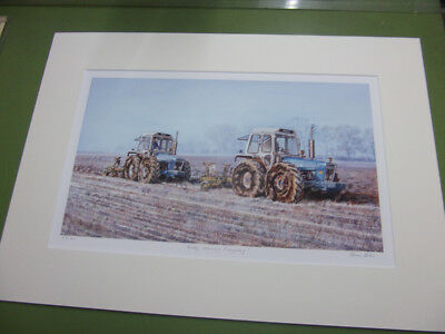 Frosty Morning Ploughing by Steven Binks - 2 County 1174's / Dowdeswell ploughs