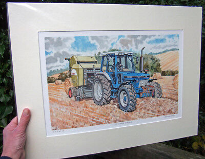 Ford 7810 Tractor - signed and numbered fine art print by Steven Binks