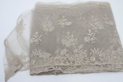 Large Length Of Antique Victorian Lace Tambour 6 Metres
