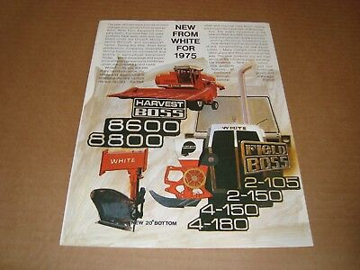 Field Boss-New From White For 1975 Brochure-8600 8800