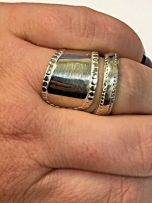 Vintage Silver Plated Spoon Ring Size 7