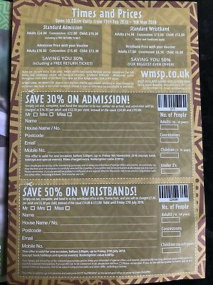 West Midlands Safari & Leisure Park Wristband 50% Discount Voucher