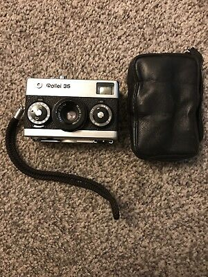ROLLEI 35 CAMERA CARL ZEISS TESSAR 1: 3.5 f: 40 mm LENS SPARES REPAIRS UNTESTED