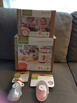 Infantino Fresh Squeezed Squeeze Station Baby Food Maker with feeding kit Spoons