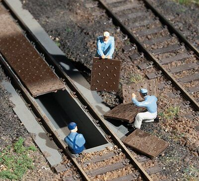 Auhagen Ho ~ 'steel And Timber Track Fillers' ~ Lineside Accessories # 48655