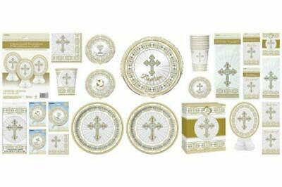 Silver/Gold Radiant Cross Tableware/Balloons/Decorations Religious Celebrations