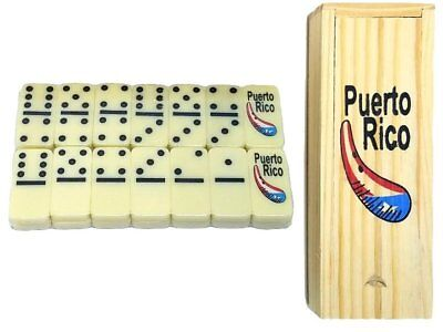 Puerto Rico Flag & Guiro Double Six Mini Dominos - Dominoes - ( Boricua Rican )