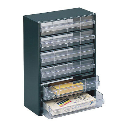 Storage Cabinet Clear 6 Drawer System Dark Grey 324223