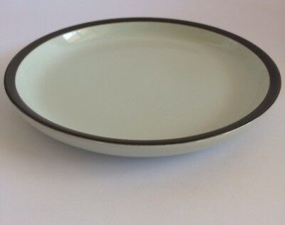 Denby Potter's Wheel Rust Coffee Salad Plate Saucer Made In England - Near Mint