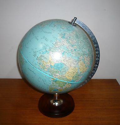Retro Scan-Globe A/s Made In Denmark On Timber Stand