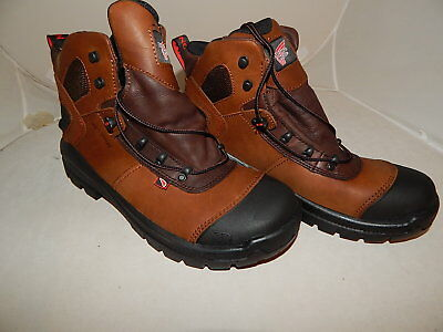 """Brown Red Wing Men Work Boots 6""""  Waterproof Leather CRV Size 9.5"""