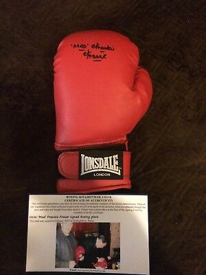 Mad Frankie Fraser Signed Boxing Glove. Kray Twins, London Gangsters