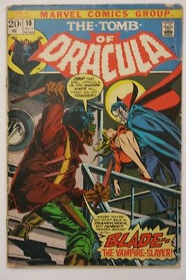 The Tomb Of Dracula #10 - 1st app. Blade - Signed by Gene Colan - Marvel Comics