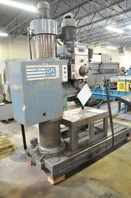 SOUTH BEND GK50-1500 RADIAL DRILL Power Clamping Power Elevation Manuals