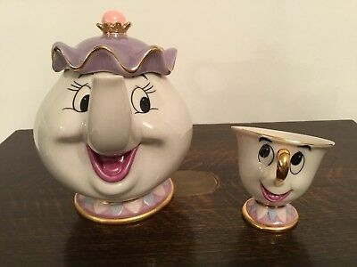 Disney Beauty And The Beast Mrs Potts And Chip Set