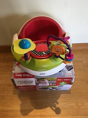 Mamas And Papas Baby Snug Seat With Play Tray Red