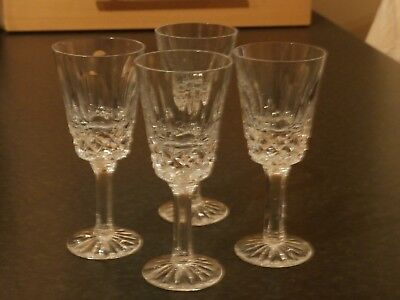 """Set of  4 Tyrone Crystal Sherry Glasses """"Rosses"""" ?"""