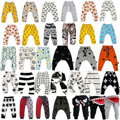 Newborn Kids Baby Boys Girl Elastic Long Pants Toddler Trousers Leggings Bottoms