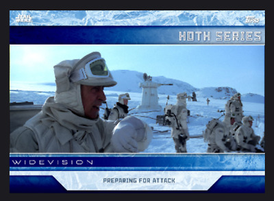 Topps Star Wars Card Trader Hoth Widevision Wave 3 Preparing for Attack Digital