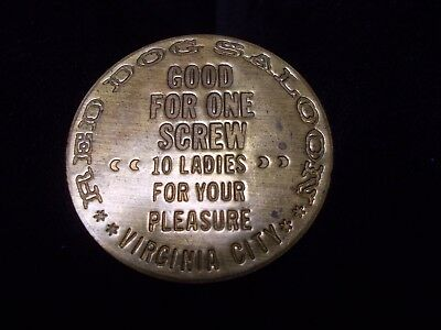 red dog saloon coin virginia city good for one screw 10 ladies for your pleasure