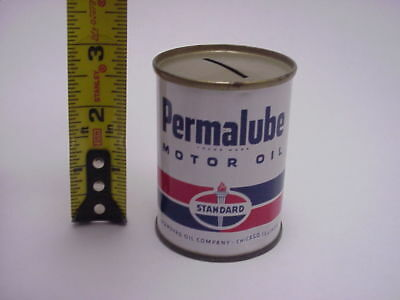 Standard Permalube Oil Can Bank Nice Tiny Collectible Much Smaller than Quart