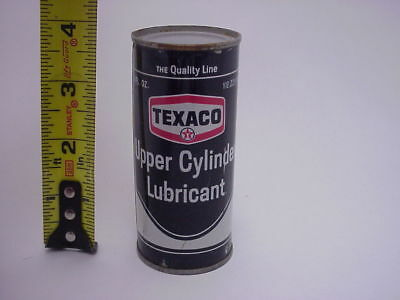 Texaco Upper Cylinder Lube Oil Can Nice Tiny Collectible Much Smaller than Quart