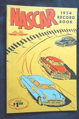 1954 NASCAR Record Book - New Old Stock - BEAUTIFUL!!!