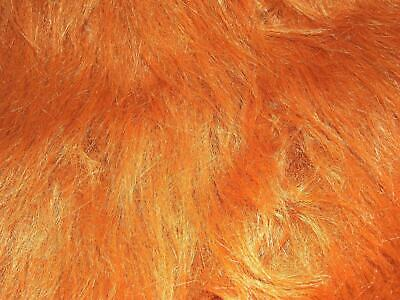 LONG Pile Fun Faux Fur Fabric Material - CHESTNUT BROWN