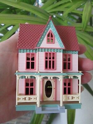 "Victorian Pink Painted Lady House Christmas Ornament 4"" Tall San Francisco CA"