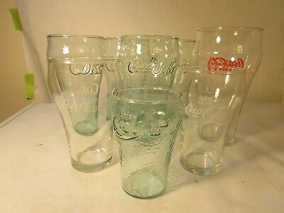 Set of 8 Vinage Misc. COCA-COLA GLASSES  Very Nice Set