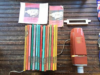 Vintage Panorama Projector w/ 15 Book Slides Records Travel Program