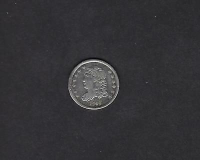 US 1836 Capped Bust Half Dime Silver Coin in Fine Condition Cleaned