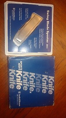 Vintage Smith & Wesson Pocket Knife  Swing Blade Sporter With Box & Sheath -1984
