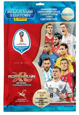 2018 World Cup Russia Panini MEGA STARTER PACK BINDER 3 Limited 4 Booster