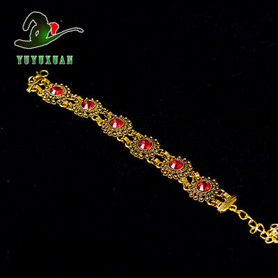 Gold-plated Bracelet Inlay Red Zircon S5019A