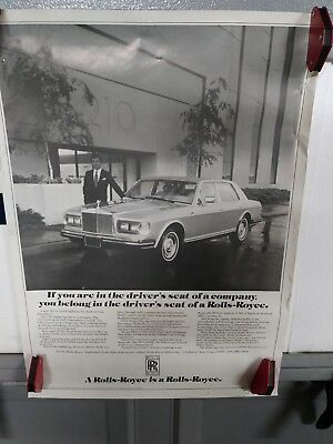 1982 Rolls Royce Dealership Posters RARE
