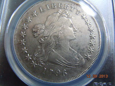 1796 Draped Bust Dollar Pcgs Xf Details, Small Date, Large Letters, Tough Date