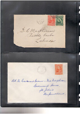 Canada - Newfoundland - An historical group of covers dated from 1890's to 1940'