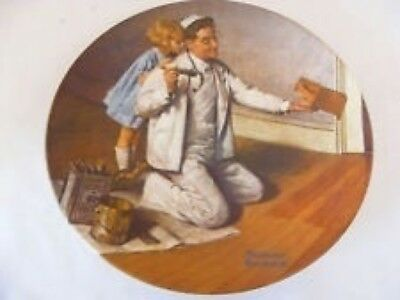 Edwin M. Knowles Norman Rockwell The Painter Bradex Number 84 R70 - 3.7