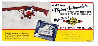 1936 Waterman Arrowbile W5 Flying Automobile Airplane Blotter Studebaker