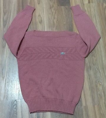 (A) Vintage Izod Lacoste Womens Sweater Alligator 38 Pink PULLOVER KNIT