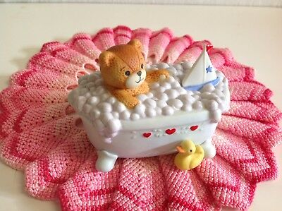 "Lucy And Me "" Baby Bear In Bubble Tub "" ( Rare ) Lucy Rigg Enesco"