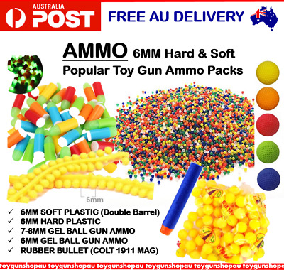 Toy Gun Ammo Double Barrel Soft 6Mm Bullet 6Mm Hard Plastic Ammo For Nerf Rival